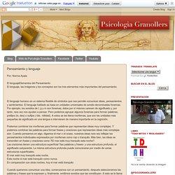 Psicologia Granollers: Artículos y noticias para psicólogos e interesados en salud mental: Pensamiento y lenguaje