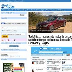Social Buzz, interesante motor de búsqueda social en tiempo real con resultados de Twitter, Facebook y Google+