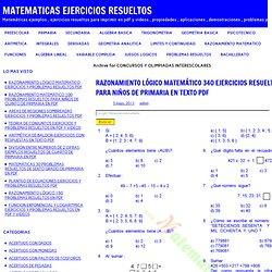 CONCURSOS Y OLIMPIADAS INTERESCOLARES
