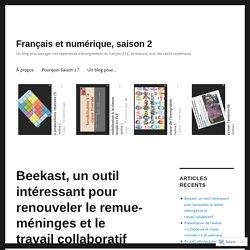 Beekast, un outil intéressant pour renouveler le remue-méninges et le travail collaboratif – Français et numérique, saison 2