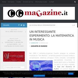 UN INTERESSANTE ESPERIMENTO: LA MATEMATICA IN MUSICA – cgmagazine.it