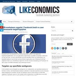 Facebook voor B2B: nieuwe interessante targetingopties
