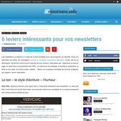 6 leviers intéressants pour vos newsletters