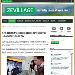 68% des PME françaises intéressées par le télétravail selon Brother-Opinion Way