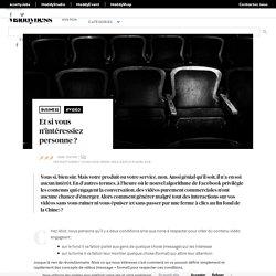 Et si vous n'intéressiez personne ? - Maddyness - Le Magazine des Startups Françaises