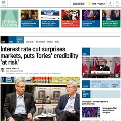 Interest rate cut puts Tories' credibility 'at risk'