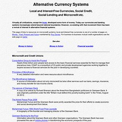 Local and Interest-Free Currencies, Social Credit and Informal Credit Systems