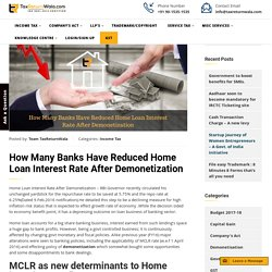 How Many Banks Have Reduced Home Loan Interest Rate After Demonetization