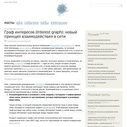 Граф интересов (Interest graph): новый принцип взаимодействия в сети