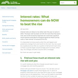 Interest rates: What homeowners can do NOW to beat the rise