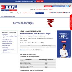 Housing Loan Rates & Service Charges - DHFL