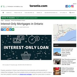 ontario interest only mortgage