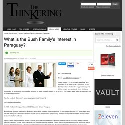 What is the Bush Family's Interest in Paraguay?