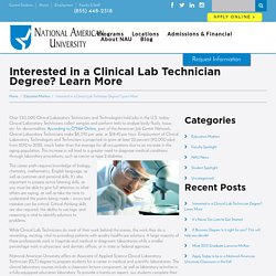 Interested in a Clinical Lab Technician Degree? Learn More - NAU