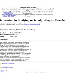Interested in Studying or Immigrating to Canada
