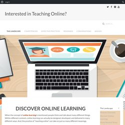 Interested in Online Learning » Discover Online Learning
