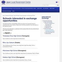 Schools interested in exchange opportunities