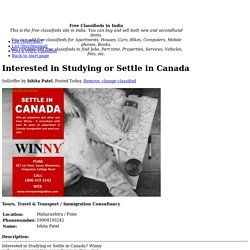 Interested in Studying or Settle in Canada