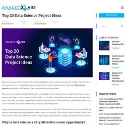 Top 20 (Interesting) Data Science Projects Ideas