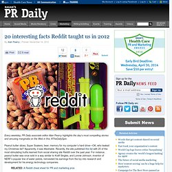 20 interesting facts Reddit taught us in 2012 | Articles | Marketing