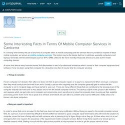 Some Interesting Facts In Terms Of Mobile Computer Services in Canberra: computerfixcanb