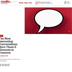 How to Have an Interesting Conversation - Motto