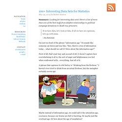 100+ Interesting Data Sets for Statistics