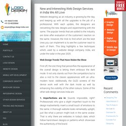 New and Interesting Web Design Services in India We All Love