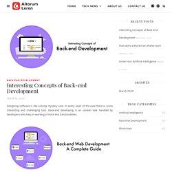 Interesting Concepts of Back-end Development - Altorum Leren