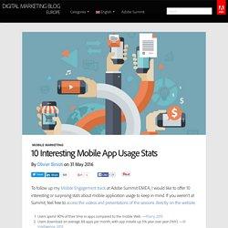 10 Interesting Mobile App Usage Stats
