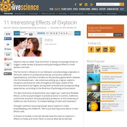 11 Interesting Effects of Oxytocin