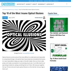 Top 10 of the Most Insane Optical Illusions
