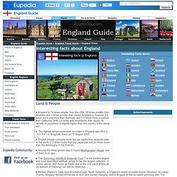 England Travel Guide - Interesting facts about England