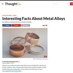 Interesting Facts About Metal Alloys