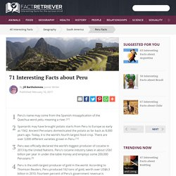71 Interesting Facts about Peru