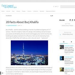 20 Interesting Facts About Burj Khalifa
