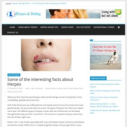 Some of the interesting facts about Herpes