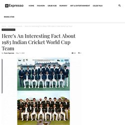 Here's An Interesting Fact About 1983 Indian Cricket World Cup Team