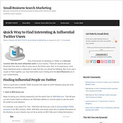 Quick Way to Find Interesting & Influential Twitter Users