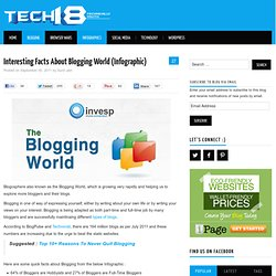 Interesting Facts About Blogging World (Infographic)