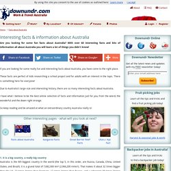 Facts about Australia: 60 interesting facts & bits of information!