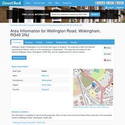 Interesting Information for Wellington Road, Wokingham, RG40 2NJ Postcode