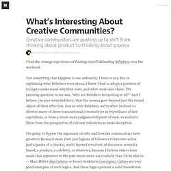 What's Interesting About Creative Communities? — Alternative Infrastructures