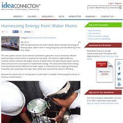 Harnessing Energy from Water Mains