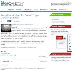 Trapdoor Molecular Sieve Traps Carbon Dioxide