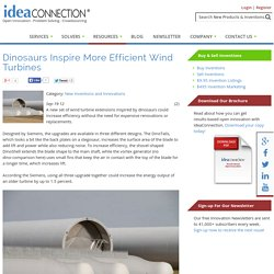 Dinosaurs Inspire More Efficient Wind Turbines