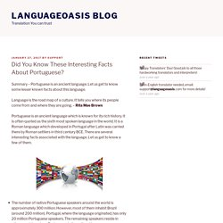 Did You Know These Interesting Facts About Portuguese? – Languageoasis Blog