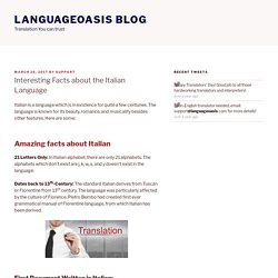 Interesting Facts about the Italian Language – Languageoasis Blog
