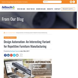 Design Automation: An interesting variant for repetitive furniture manufacturing