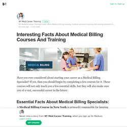 Facts About Medical Billing Courses And Training